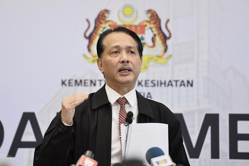 Health Director-General Datuk Noor Hisham Abdullah at a press conference in Putrajaya March 25, 2020. — Picture by Miera Zulyana