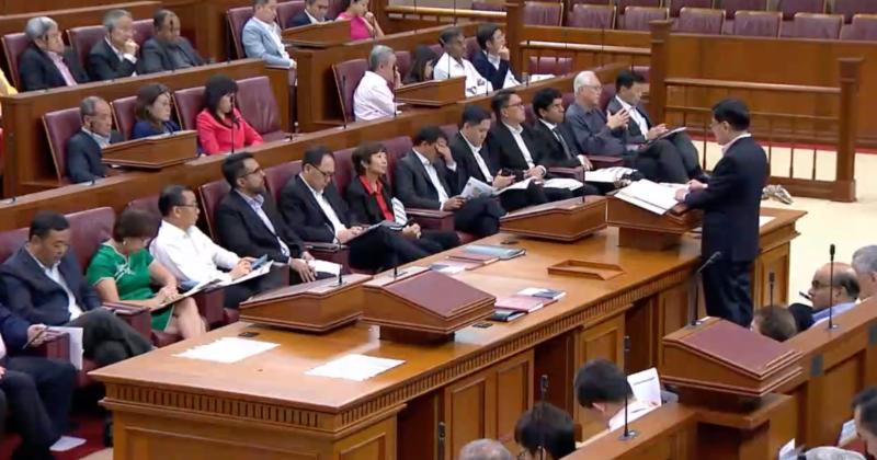 Screenshot of Singapore Parliament during Budget 2019. (PHOTO: Yahoo News Singapore)