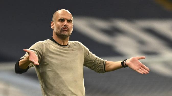 Pelatih Manchester City, Pep Guardiola. (AP Photo/Shaun Botterill, Pool)