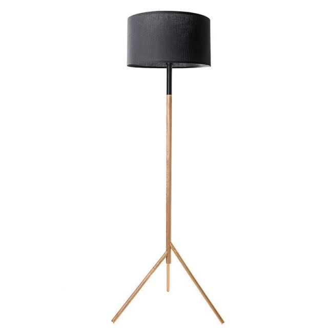 Woodi Floor Lamp in Black and Oak by Modern Furniture