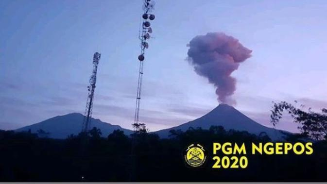 Gunung Merapi Saat Erupsi. (dok.Instagram @bpptkg/https://www.instagram.com/p/B8fAJmtBoW9/Henry)