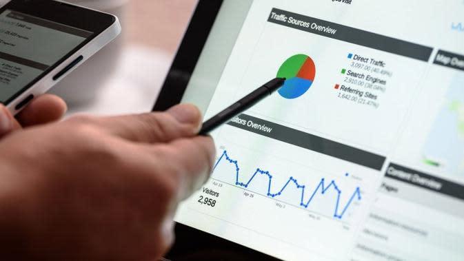 Ilustrasi Digital Marketing, Pemasaran Digital, Google Analytic