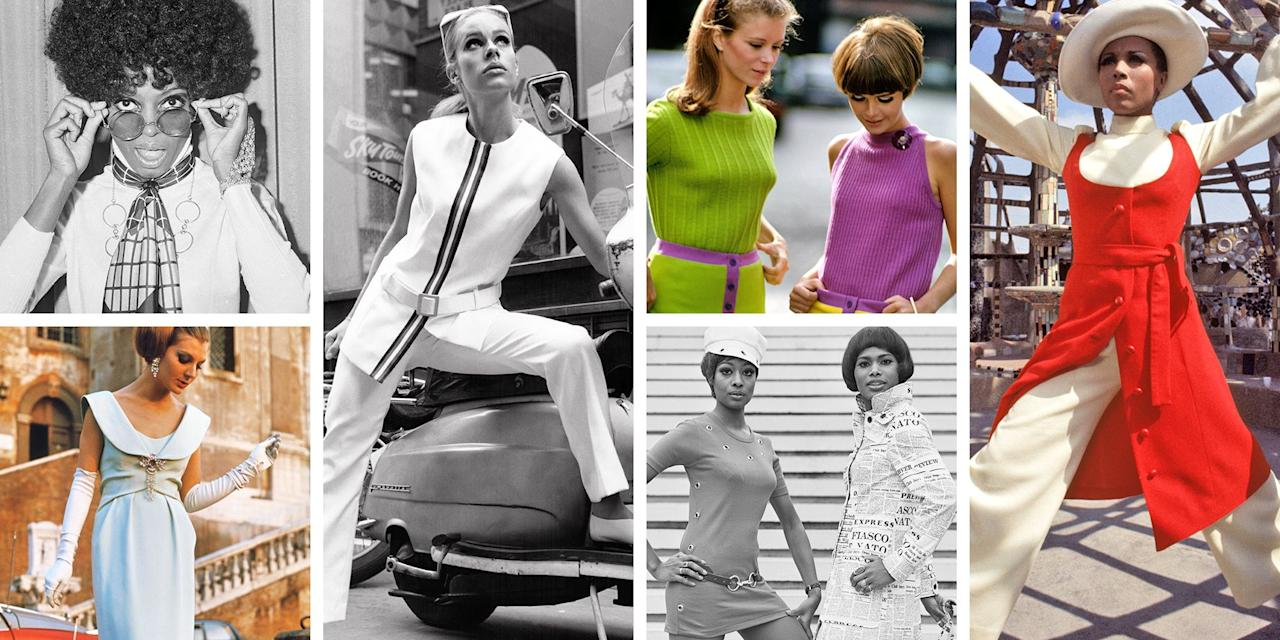 <p>The Swinging Sixties is known for major shifts in culture, politics, music, and fashion. Between second-wave feminism and the assassinations of major world leaders like Dr. Martin Luther King Jr., John F. Kennedy and Malcom X, the tumultuous decade had a direct connection with how people chose to express themselves through style. </p><p>The growing popularity of the bikini represented women embracing their bodies while the black turtleneck (like the one often worn by activist Kathleen Cleaver) became an icon for the Black Panther Party. Our modern-day struggles mirror the '60s, so it only makes sense that there are so many fashion trends that continue to inspire us today. Miniskirts, fringe, bold florals, crochet, tie-dye and more were birthed from this decade, so let this roundup of iconic style moments serve as your mood board now.</p>