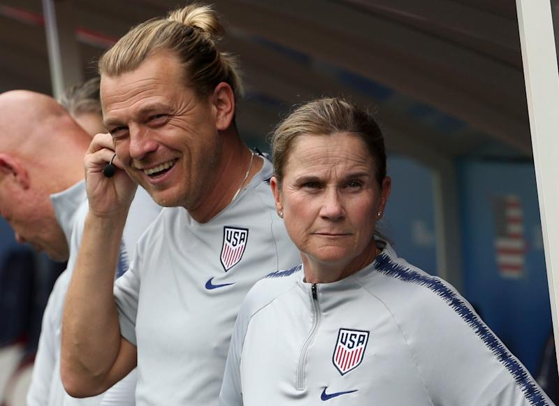 Might Tony Gustavsson be ready and waiting to take over for Jill Ellis with the USWNT? (Getty)