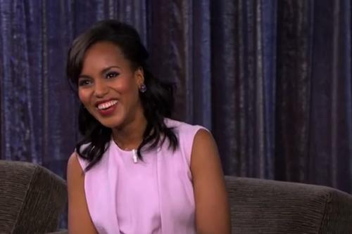 'Scandal' Star Kerry Washington Disses Anthony Weiner on Kimmel (Video)