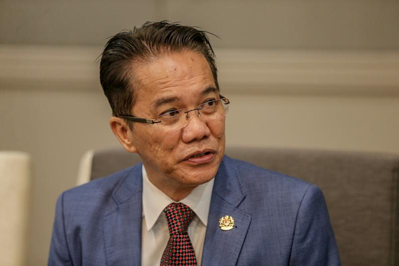Minister in the Prime Minister's Department Datuk Liew Vui Keong speaks to reporters during the Human Rights Day Forum in Kuala Lumpur December 10, 2019. — Picture by Firdaus Latif