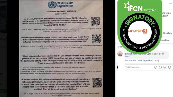 Hoaks dokumen WHO. (Facebook/Knowledge is Power)