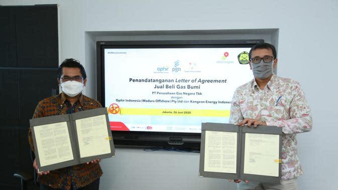 PT Perusahaan Gas Negara Tbk (PGN) melanjutkan penandatanganan LoA (Letter of Agreement) tahap ketiga dengan produsen gas hulu
