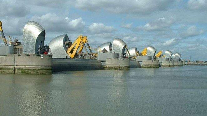 Thames Flood Barrier.