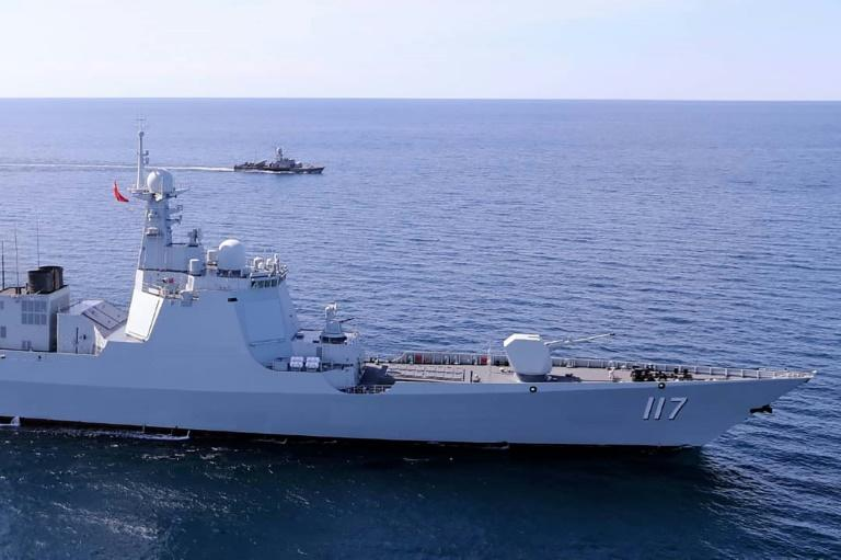 A Chinese navy Xining destroyer took part in the drills in the Indian Ocean and the Gulf of Oman