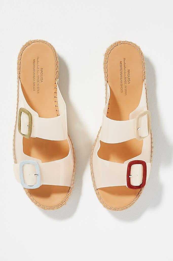 Buckle Espadrille Sandals (Anthropologie)