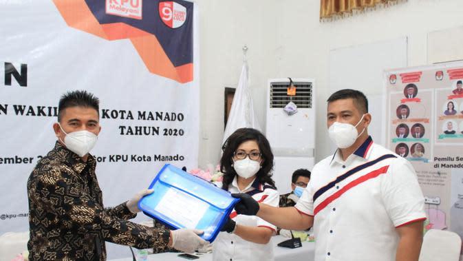 Paula dan Harley resmi mendaftarkan diri sebagai calon kontestan dalam Pilkada Manado 2020.