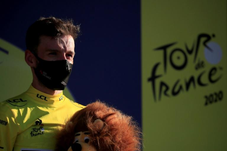 Yates takes unwanted Tour de France yellow jersey as Alaphilippe pays water penalty