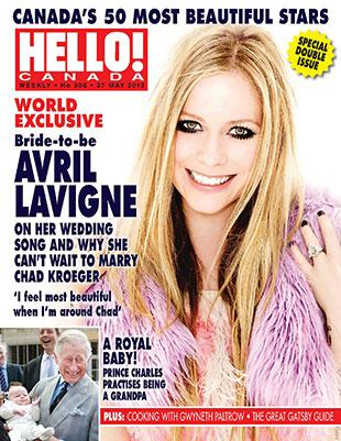 Avril Lavigne Covers HELLO! Canada's 50 Most Beautiful Canadians Issue