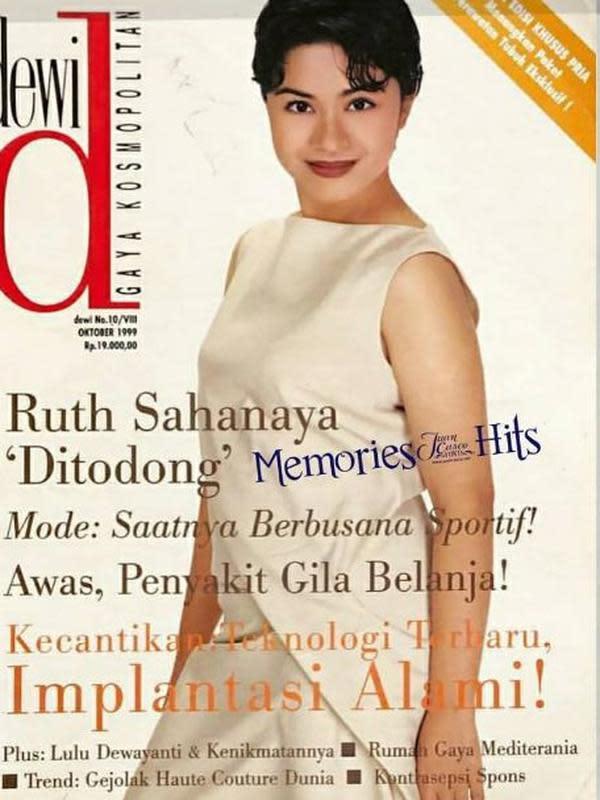 Ruth Sahanaya saat jadi sampul majalah. (Instagram/@memories__hits)