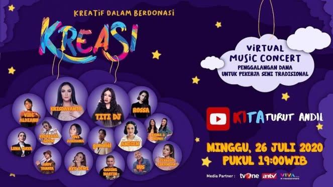 Virtual music concert Kreasi