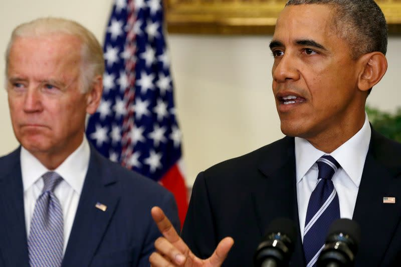 Obama helps raise $11 million in first campaign event for Biden's White House bid