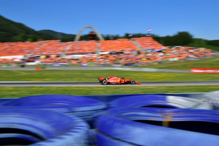 Leclerc in Austria last season