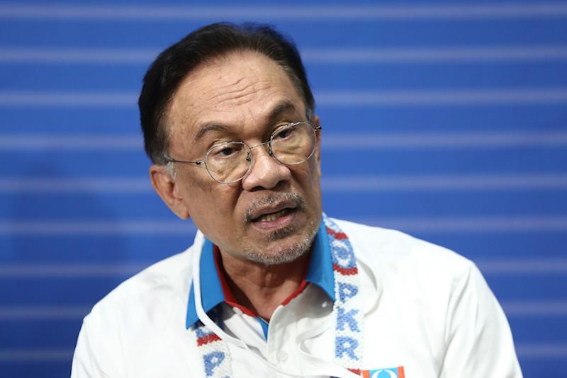 PKR president Datuk Seri Anwar Ibrahim speaks during a press conference after the 2019 PKR National Congress at MITC in Ayeh Keroh, Melaka December 8, 2019. — Picture by Ahmad Zamzahuri
