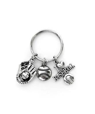 monogram initial keychain baseball glove charm sports keychain personalized keychain Baseball glove keychain initial charm