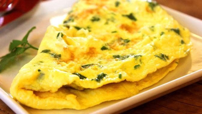 Ilustrasi omelet. (Sumber: Pixabay)