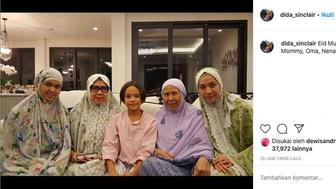 Unggahan Ibunda Ashraf Sinclair. (instagram.com/dida_sinclair)