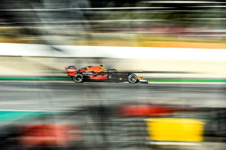 Red Bull's Max Verstappen in testing on Wednesday