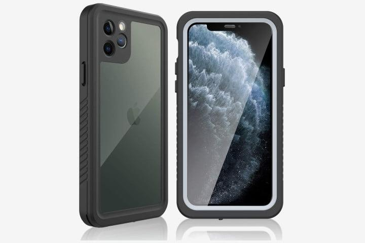 Picture shows the front and back view of the Vidafelic Waterproof Case for iPhone 11 Pro