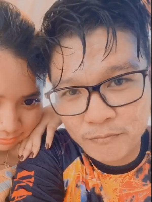 Andika Mahesa dan kekasih (Sumber: TikTok/chaterine0808)