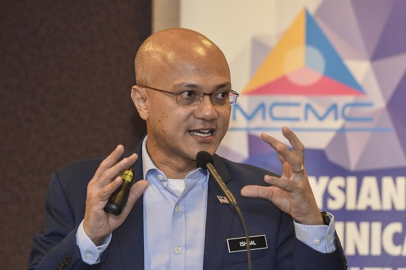 Malaysian Communications and Multimedia Commission chairman Al-Ishsal Ishak speaks during media briefing on the National Fiberisation and Connectivity Plan in Cyberjaya September 5, 2019. — Picture by Miera Zulyana