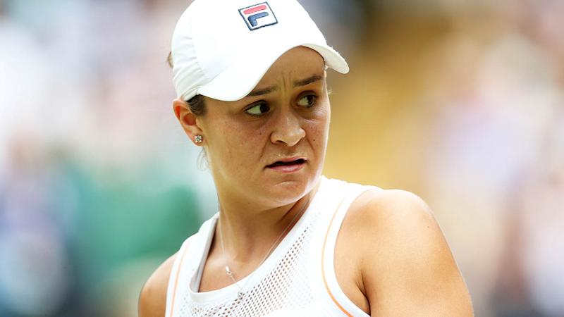 Ash Barty in action at Wimbledon before her shock loss. (Photo by Rob Newell - CameraSport via Getty Images)