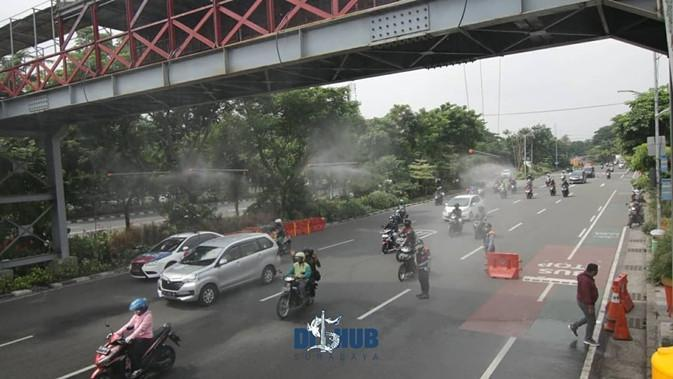 Surabaya lengkapi penyemportan kendaraan umum secara otomatis. (Sumber: Instagram/@dishubsurabaya)