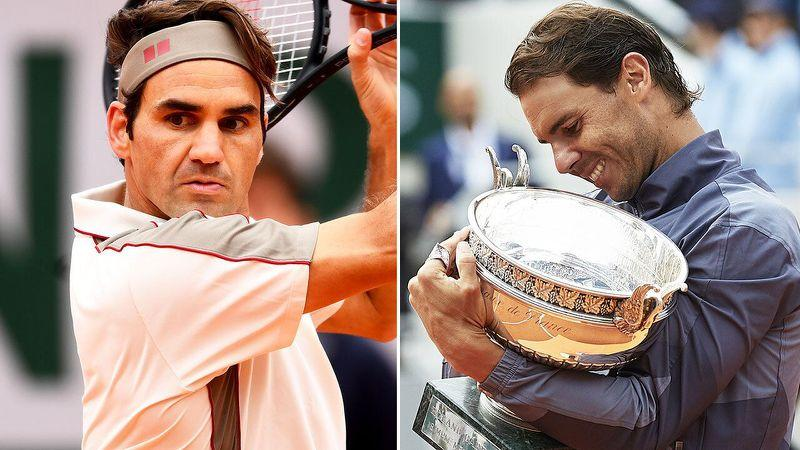Nadal says he is not driven by matching or surpassing Federer's records. Pic: Getty