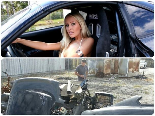 Swimsuit model's 1,200-hp Supra stolen and chopped to fans' outrage