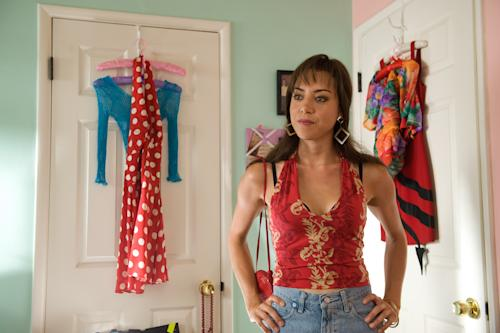"This film publicity image released by CBS Films shows Aubrey Plaza portraying Brandy Klark in a scene from ""The To Do List."" (AP Photo/CBS Films, Bonnie Osborne)"