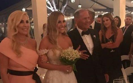 Tracey Kurland was walked down the aisle by her parents this weekend