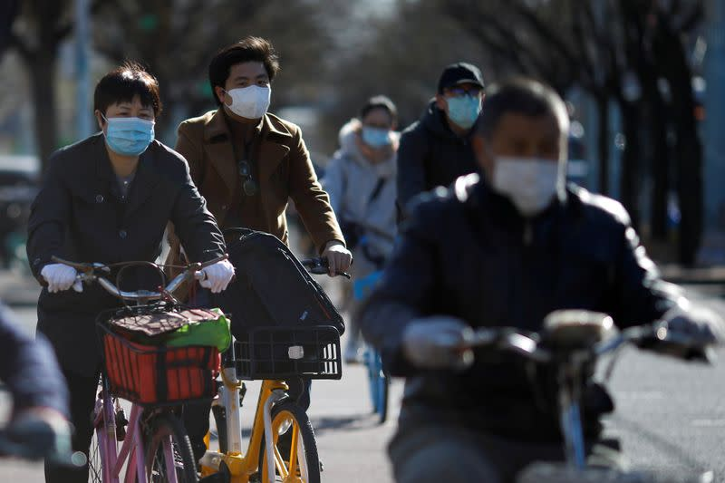 FILE PHOTO: Outbreak of the coronavirus disease (COVID-19), in Beijing