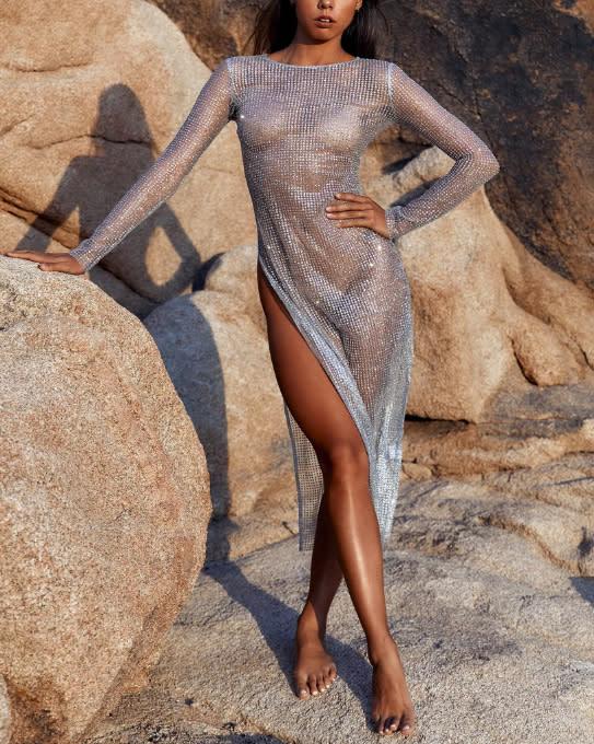 Imogen Anthony defends sheer dress. Photo: The Naked Tiger.