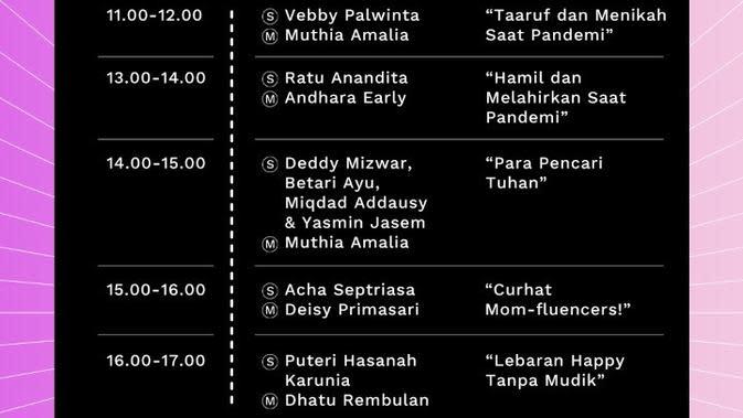 Jadwal Live Stream Fest Vol. 3 Edisi Ramadan Hari Kedua di Program Live Family