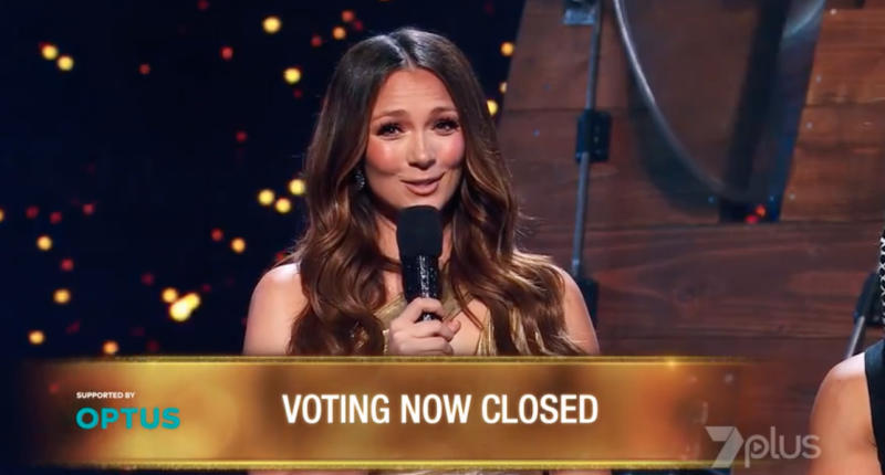 Host Ricki-Lee Coulter opens the phone line for Australia's Got Talent 2019's grand final