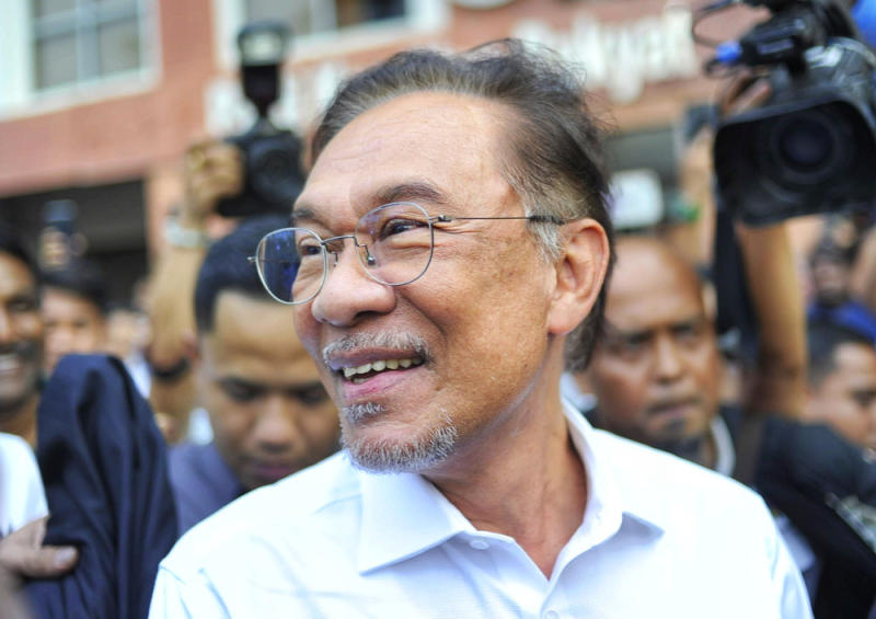 Datuk Seri Anwar Ibrahim leaves the PKR headquarters in Petaling Jaya February 26, 2020. — Picture by Shafwan Zaidon