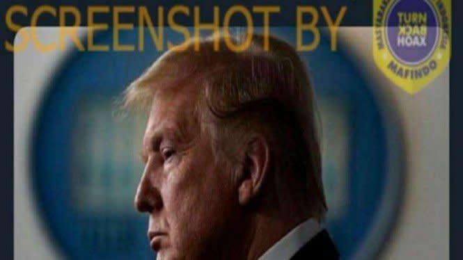 Presiden Donald Trump Meninggal karena COVID-19, Cek Faktanya