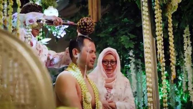 Momen Pengajian dan Siraman Danny Rukmana bersama Raiyah Chitra (Sumber: instagram.com/tututsoeharto)