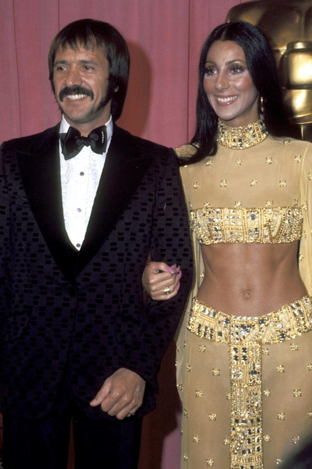 <p>Cher looked <em>abs</em>-olutely radiant in 1973 at the Academy Awards.</p>