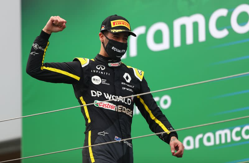 Ricciardo podium means tattoo for the boss and a private 'shoey'