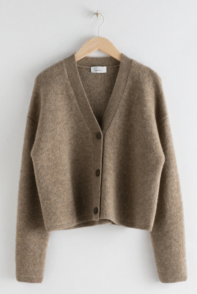 & Other Stories Boxy Wool Blend Classic Cardigan
