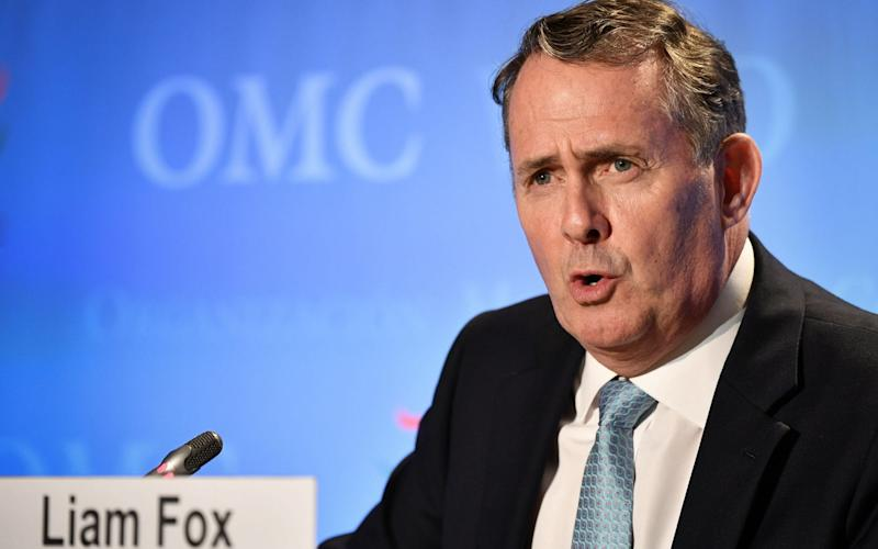 Classified documents relating to US-UK trade talks were taken from a private email account belonging to Liam Fox, the former International Trade Secretary - Fabrice Coffrini/AFP