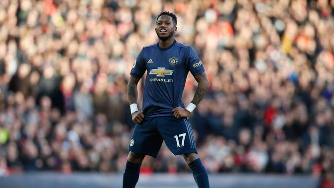 Penampilan apiknya bersama Shakhtar Donetsk menarik hati Jose Mourinho. Fred merapat ke Manchester United setelah ditebus dengan harga 59 juta euro. (AFP/Ian Kington)