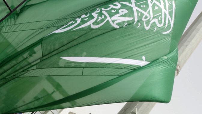 Ilustrasi bendera Arab Saudi (AFP Photo)
