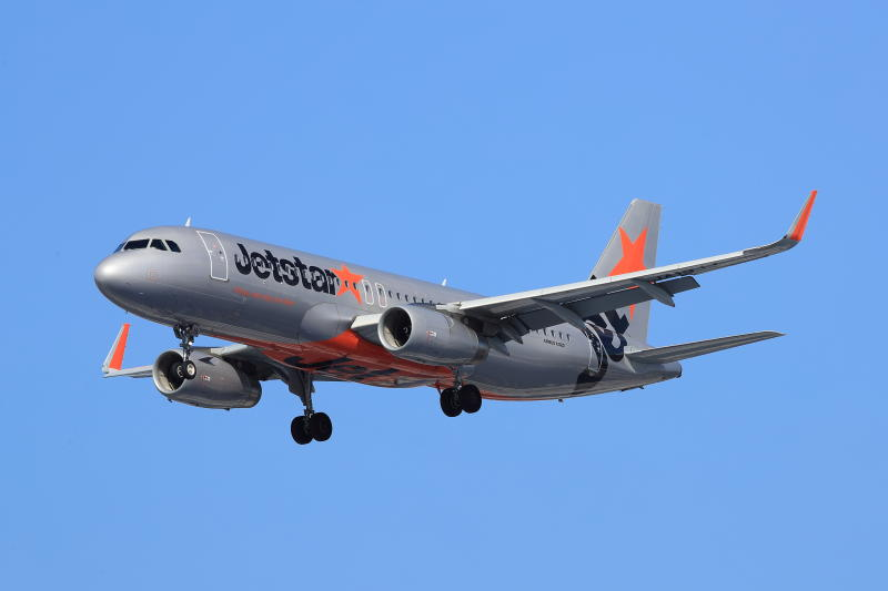 A Jetstar Airways Airbus 320 is seen flying.